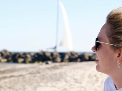 Boote am Südstrand beobachten